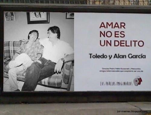 ¿Parejas imaginarias? Difunden curiosa foto de Alan García y Alejandro Toledo