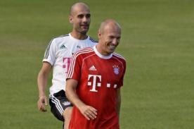 Pep Guardiola: Estoy enamorado de Arjen Robben