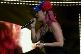 Demi Lovato pide que recen por Venezuela en concierto de EEUU (Video)