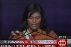 Mujer Ashaninka recibe premio por la conservación de la tierra - Video