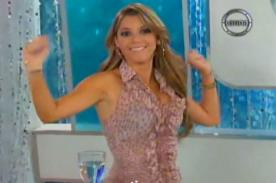 Video: Alexandra Horler hizo coqueto baile en reemplazo de Karen Schwarz