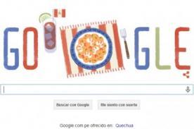 Google por Día de la Independencia dedica doodle a Perú por Fiestas Patrias 2014