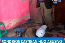 ¡TERRIBLE!: Hombre amenazó con cuchillo a su madre pero le aplicaron tremendo castigo - VIDEO