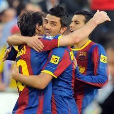 Barcelona: Messi, Villa y Pedro han anotado más goles que todo el Real Madrid