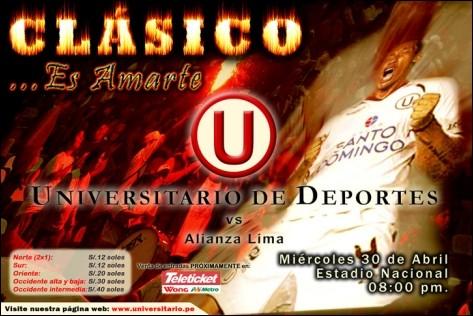 Alianza Lima gana 1-0 el clásico contra Universitario de Deportes