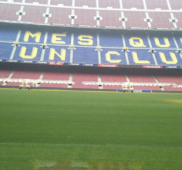 Fútbol español: Estadio del Barcelona lucirá césped nuevo