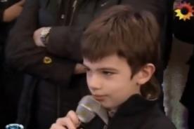 Video: Niño encara a Marcelo Tinelli en Bailando 2012