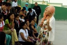 Video: Lady Gaga visitó escuela en Ventanilla durante su gira en Perú