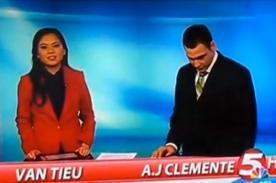 Video: Presentador de noticias fue despedido por decir groserías al aire
