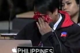 Filipino llora durante discurso sobre cambio climático ante la ONU - VIDEO