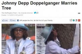 ¿Johnny Depp se casa con un árbol?