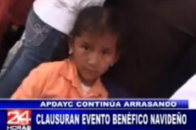 ¿APDAYC es criticado por suspender evento benéfico para niños? - Video