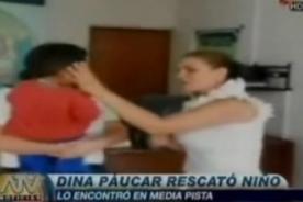 Cantante Dina Paucar salvó a un menor de ser atropellado