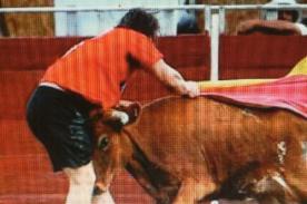 Miguel Arce fue corneado por toro en evento de Trujillo - Fotos