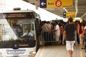 Semana Santa: Funcionarán solo 3 rutas del Metropolitano