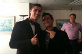 Final Champions League: Alejandro Sanz postea foto con Cristiano Ronaldo