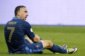 Franck Ribéry queda descartado para el Mundial Brasil 2014