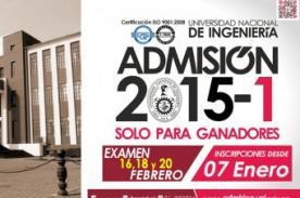 Admisión UNI 2015-1: Resultados finales del examen UNI - 20 de febrero
