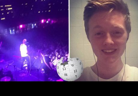El joven que logró entrar al VIP de su banda favorita gracias a Wikipedia