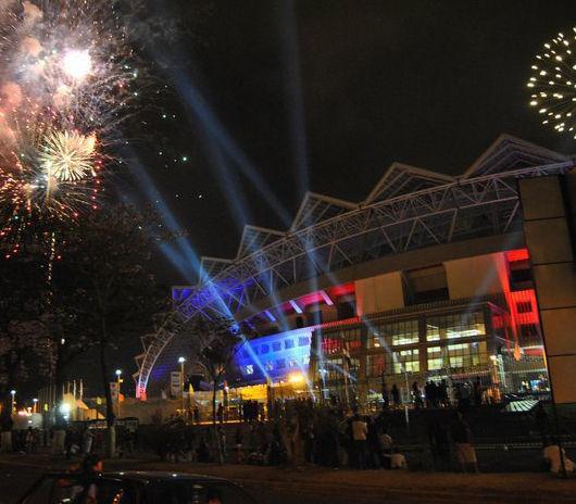 Estadio Nacional fue reinaugurado en medio de un alboroto de periodistas