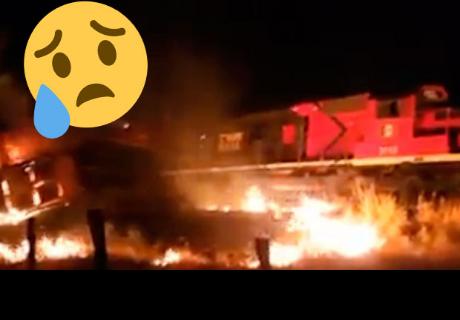 Imágenes de supuesto fantasma en choque de trenes ha dejado en shock a todos