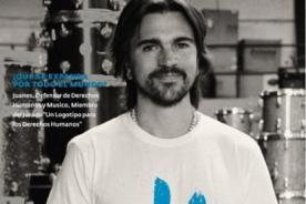 Juanes muestra nuevo logo de los Derechos Humanos