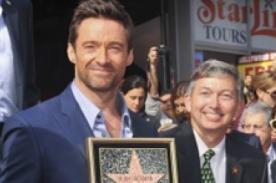 Hugh Jackman es galardonado con una estrella en el Paseo de la Fama