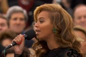Beyoncé habría usado playback en la investidura de Barack Obama