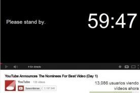YouTube anuncia nominados a 'Mejor Video' - Transmisión en vivo