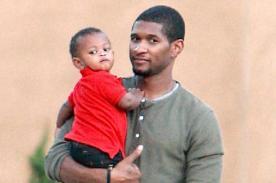 Hijo de Usher es hospitalizado tras casi ahogarse en la piscina