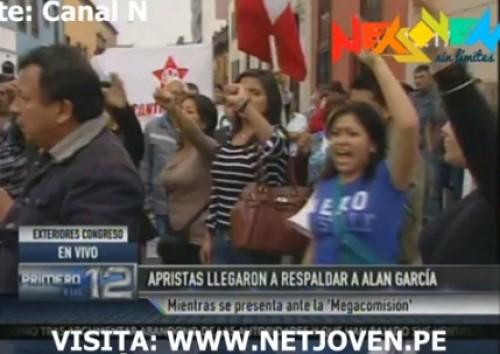 Apristas y nacionalistas se enfrentan cerca del Congreso de la República -VIDEO