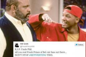 Crean falsa cuenta de Will Smith lamentando muerte de Tio Phil