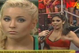 Combate: Yamila Piñero se puso celoso de Karen Dejo - Video