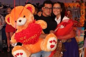 Karla Tarazona regresó a 'Hola a Todos' y Christian Domínguez la recibió con detalles