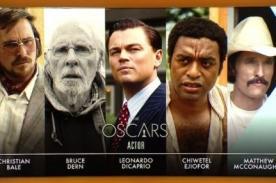 Conoce a los nominados a Mejor Actor Protagónico en los Oscar 2014