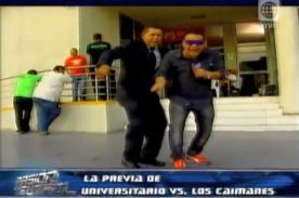 El 'Puma' bailó con Orderique en La Previa del partido de Universitario - VIDEO