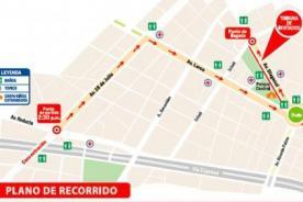 Corso Wong 2014: Ruta y recorrido del desfile el domingo 20 de julio