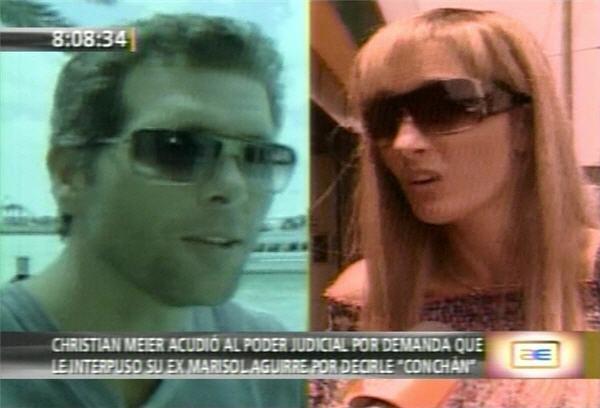 Christian Meier se excusó con Marisol Aguirre por decirle conchán