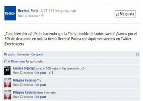 Marca de zapatillas causa polémica por comentario sobre temblor en Lima