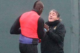 Premier League: Mario Balotelli y Roberto Mancini se pelean en práctica