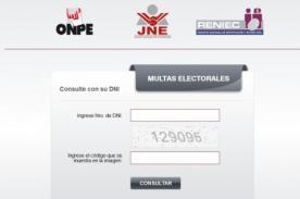 ONPE 2013: Consulta si tienes multas pendientes