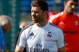 Xabi Alonso volvió a las prácticas del Real Madrid con Ancelotti
