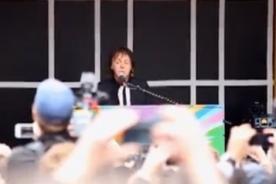 Paul McCartney ofrece concierto sorpresa en Nueva York