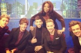 One Direction y Oprah se juntan en el programa 'Jonathon Ross Show'