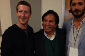 Alejandro Toledo publica foto con Mark Zuckerberg en Facebook