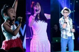 La Voz Kids: Valeria, Sebastián y Amy pasaron a la gran final