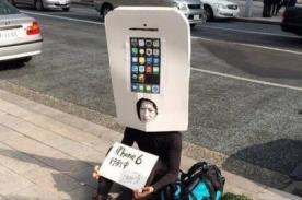 Japonés se disfraza de iPhone 6 y ya hace fila para comprarlo - FOTOS