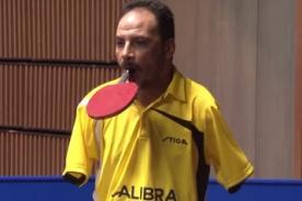 El ejemplo de Ibrahim Hamato, el jugador de Ping Pong sin brazos-VIDEO