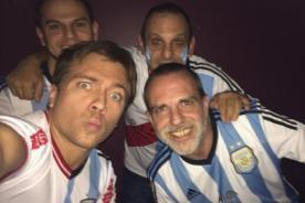 Julián Zucchi celebra emocionado el triunfo de Argentina ante Bélgica