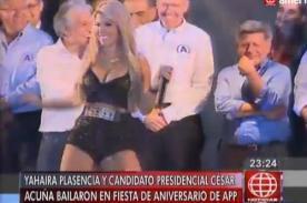¡Yahaira Plasencia lució travieso y apretado escote en mitin de César Acuña! - FOTO